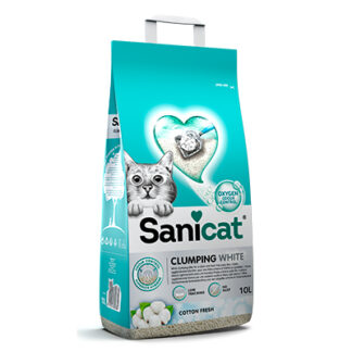 Sanicat clumping white 10 l